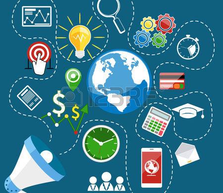 38419675-wohnung-digitales-marketing-konzept-mit-megaphon-und-web-anwendung-wirtschaft-bildung-ikonen-auf-gel
